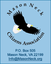 Mason Neck Citizens Association, P. O. Box 612, Mason Neck, VA, Info@MasonNeck.org